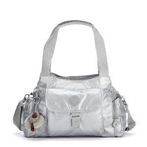 Felix Large Metallic Handbag - Platinum Metallic | Kipling