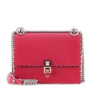 Fendi - Kan I Small leather shoulder bag
