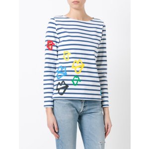 Ports 1961 Lips Print Striped Sweatshirt - Farfetch