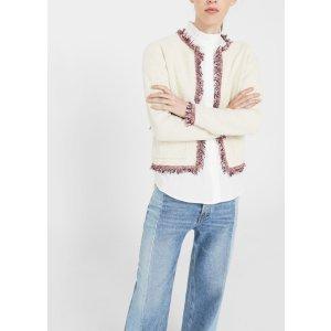 Frayed edges cardigan -  Women | MANGO USA