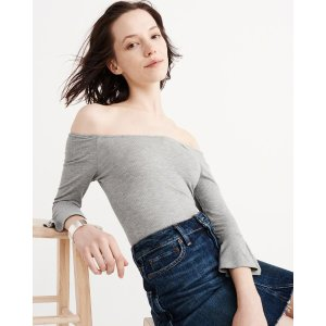 Womens Bell Sleeve Bodysuit | Womens Tops Sale | Abercrombie.com