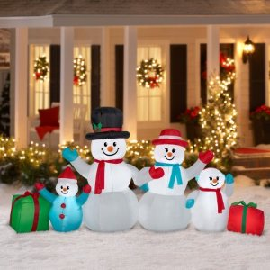 $49Airblown Christmas Inflatable Winter Snowman Collection Scene 9' wide
