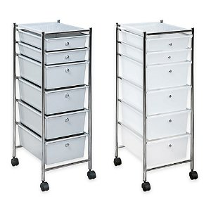 6-Drawer Plastic Rolling Storage Cart - Bed Bath & Beyond