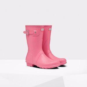 Womens Pink Short Rain Boots | Official US Hunter Boots Store