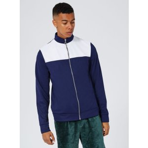 Navy and White Panelled Track Top - New Arrivals - New In