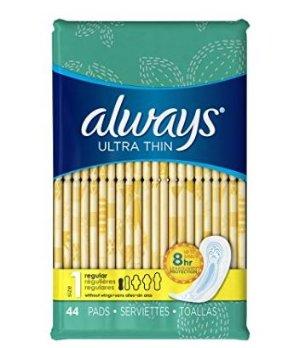 Always 超薄1号常规无香型卫生护垫,44片3包装