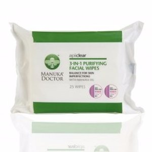 ApiClear 3-in-1 Purifying Facial Wipes - Cleansing Face Wipes - Manuka Doctor