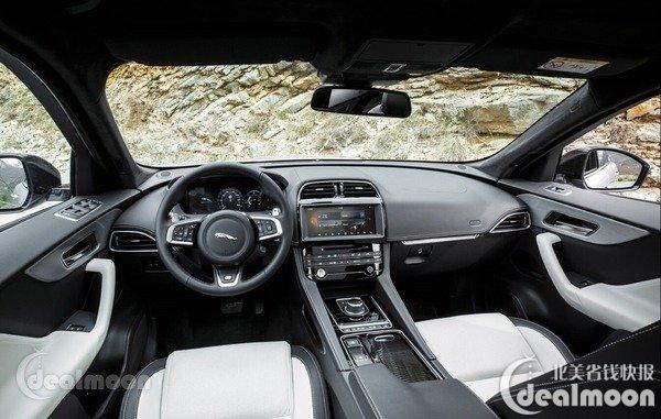 2017 Jaguar F-Pace 全新捷豹F-Pace的设计灵感源自家族里的F-Type,并重新定义了F-Type的美学、力量和纯粹,是一款有着跑车基因,更加年轻的SUV。从隆起的发动机罩到流线且鲜明的腰线,动感的车身比例,其极具侵略性的外观让人过目难忘,赢得无敌的回头率。FPace的V6机械增压发动机与F-Type相同,带来高水平的性能表现和令人过耳难忘的轰鸣声,让你一听就忘不了它。F-Pace的内饰精美细腻,大胆的运动风格让人眼前一亮。更提供多种手工缝制豪华真皮和高级饰面,通过当代英伦技艺静心打造