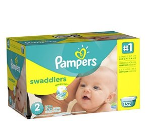 $16.08 Pampers Swaddlers Diapers Size 2, 132 Count