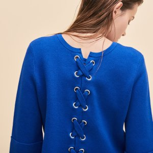 MANUEL Cropped jumper in run-resistant knit
