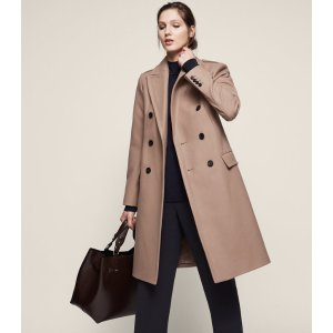 Betty Double-Breasted Coat - REISS