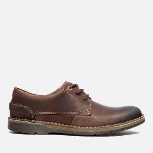 Clarks Men's Edgewick Plain Leather Shoes - Dark Brown
