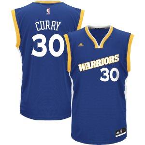 adidas Men's Golden State Warriors Steph Curry #30 Alternate Royal Replica Jersey