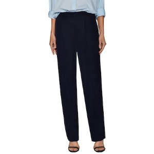 Pleated Front Cotton Trouser by Vince at Gilt