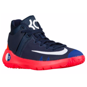 Nike KD Trey 5 IV - Boys' Grade School - Basketball - Shoes - Durant, Kevin - Obsidian/White/Bright Crimson/Deep Royal