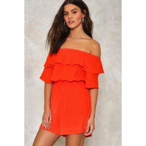 Amalfi Off-the-Shoulder Romper | Shop Clothes at Nasty Gal!