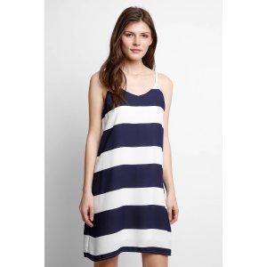 Abbeline Striped Swing Dress   South Moon Under