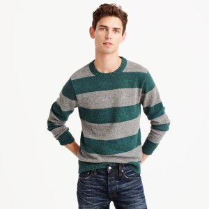 Cotton-wool crewneck sweater in stripe