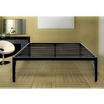 Olee Sleep 18inch Tall Round Edge Steel Slat Bed Frame S-3500 High Profile Platform Bed Frame, Full