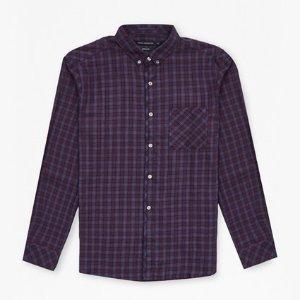 Soft Cotton Twill Check Shirt
