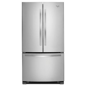 Whirlpool 25.2 cu. ft. French Door Refrigerator in Monochromatic Stainless Steel-WRF535SMBM - The Home Depot