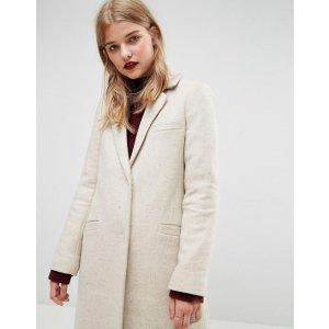 ASOS Slim Coat in Wool Blend at asos.com