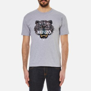 KENZO Men's Snake X Tiger T-Shirt - Dove Grey - Free UK Delivery over £50