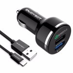 Enjoybot quick charge 3.0 and with a Type-C Cable Car Charger
