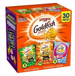 $7.58 Pepperidge Farm Goldfish Variety Pack Bold Mix, (Box of 30 bags)