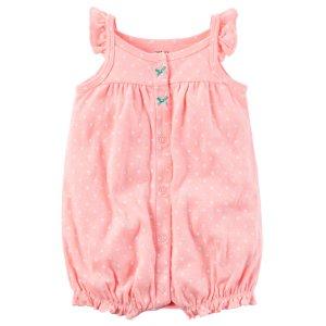 Baby Girl Snap-Up Neon Romper | Carters.com