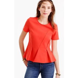 Asymmetrical pleated top : t-shirts & tank tops