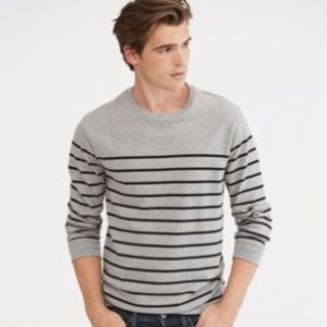 Striped Cotton Jersey Pullover