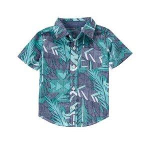 Toddler Boys Palm Print Palm Shirt by Gymboree