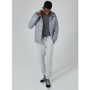 Gray Hooded Liner Jacket - Coats & Jackets - Clothing - TOPMAN USA