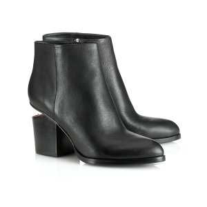 Black Leather Gabi Ankle Boots | Alexander Wang | Avenue32