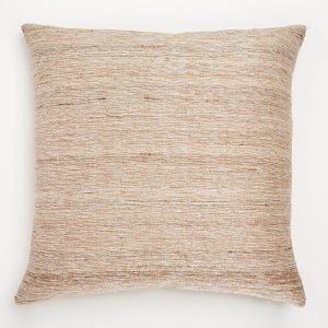 Varanasi Silk Lurex Pillow Natural/Silver