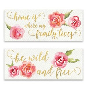 Wild Bohemian 20-Inch x 8-Inch Canvas Wall Art