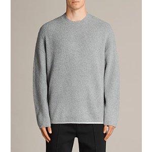 ALLSAINTS US: Mens Arinn Crew Sweater (Grey Marl)