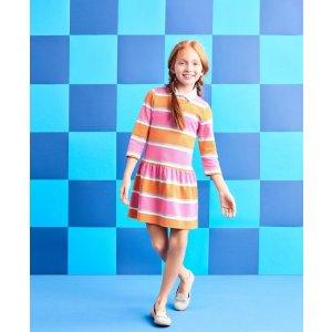 Mixed Media Dress - Brooks Brothers
