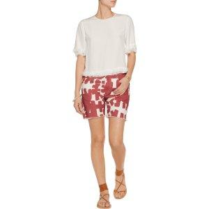 Kimmy printed denim shorts