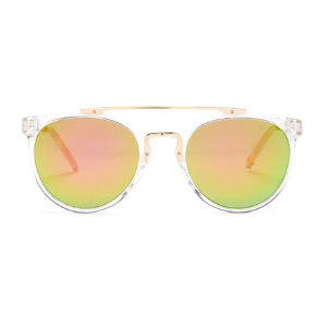Betsey Johnson | Women's Round With Metal Brow Bar Plastic Sunglasses | Nordstrom Rack