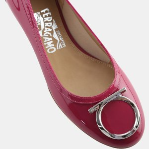 Salvatore Ferragamo Ena Patent Leather Flat Flats | ELEVTD Free Shipping & Returns