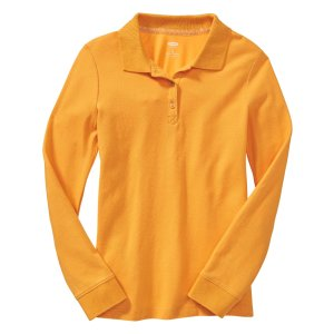 Uniform Long-Sleeve Polo for Girls | Old Navy