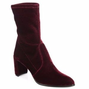 Prancer Stretch Velvet Booties