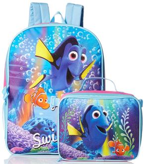 史低价 $5.8迪士尼 Finding Dory 图案 儿童背包和午餐包套装