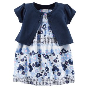 Baby Girl 2-Piece Dress & Cardigan Set | Carters.com
