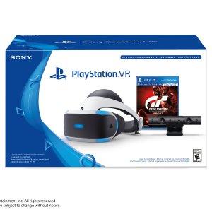 $199索尼 PlayStation VR Headset VR头盔  + PS4 Camera 摄像头 + GT游戏