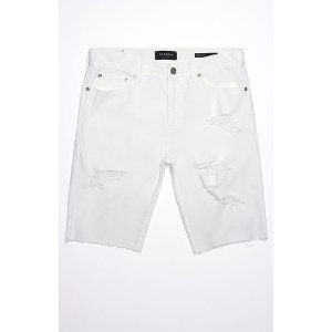 PacSun Skinny Destroyed White Cutoff Denim Shorts at PacSun.com