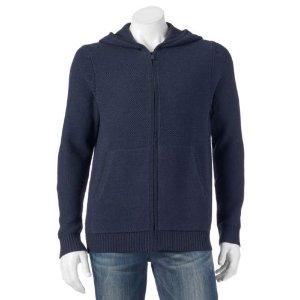 Men's Apt. 9® Modern-Fit Textured Full-Zip Hoodie