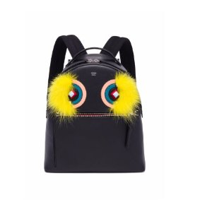 Fendi - Monster Leather, Snakeskin & Fox Fur Backpack - saks.com